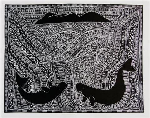 aiona tala gaidan badu art centre dugong mating purru dhangal