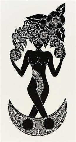 Good women, Laurie Nona, Torres Strait Women, Art, Lino Print