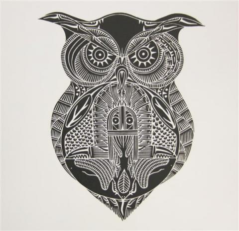 Gugu, Owl, Torres Strait, Laurie Nona