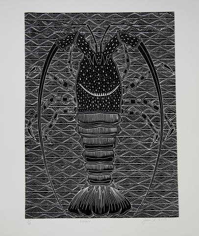 Joseph Au, Torres Strait, Art, Crayfush, Indigenous Art, Australia