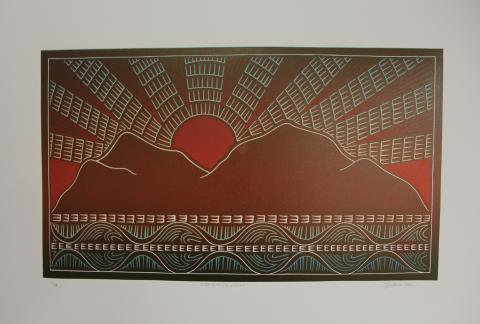 Sunset, Torres Strait, Aiona Tala Gaidan