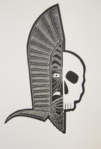 Joseph Au, Skull, Torres Strait, Mask