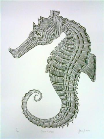 Joseph Au Badu Art Centre seahorse
