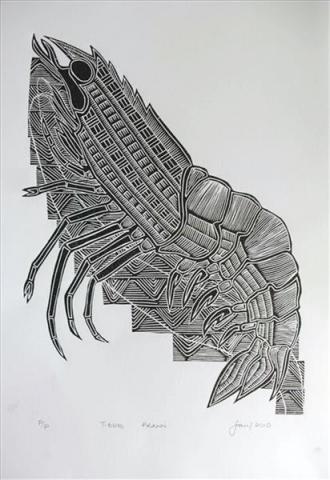 Joseph Au Badu Art Centre tiger prawn
