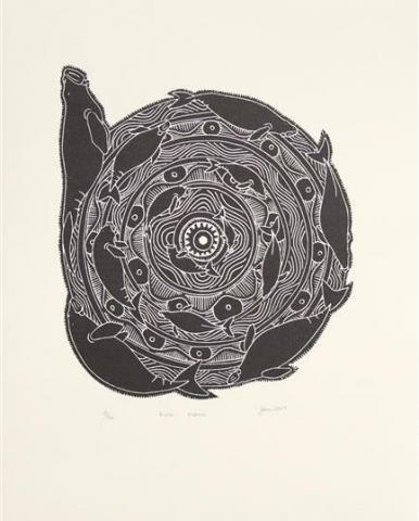 Joseph Au, Eye, Dugong, Life cycle, Torres Strait, Art