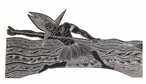 Joseph Au, Badu Island, Spear, Indigenous Art, Australia, Aboriginal & Torres Strait