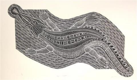 Crocodile, Joseph Au, Torres Strait, Aboriginal