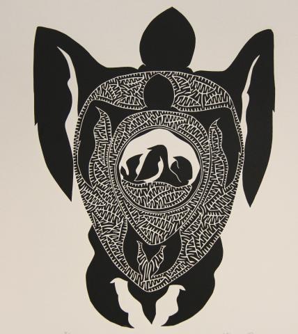 Turtle, Torres Strait, Indigenous Art, Badu Island, Gehmat Nona